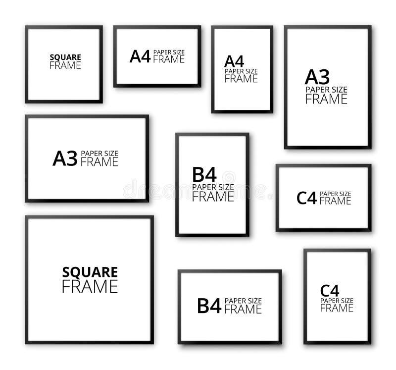 Frames set stock vector. Illustration of border, clip - 54253693