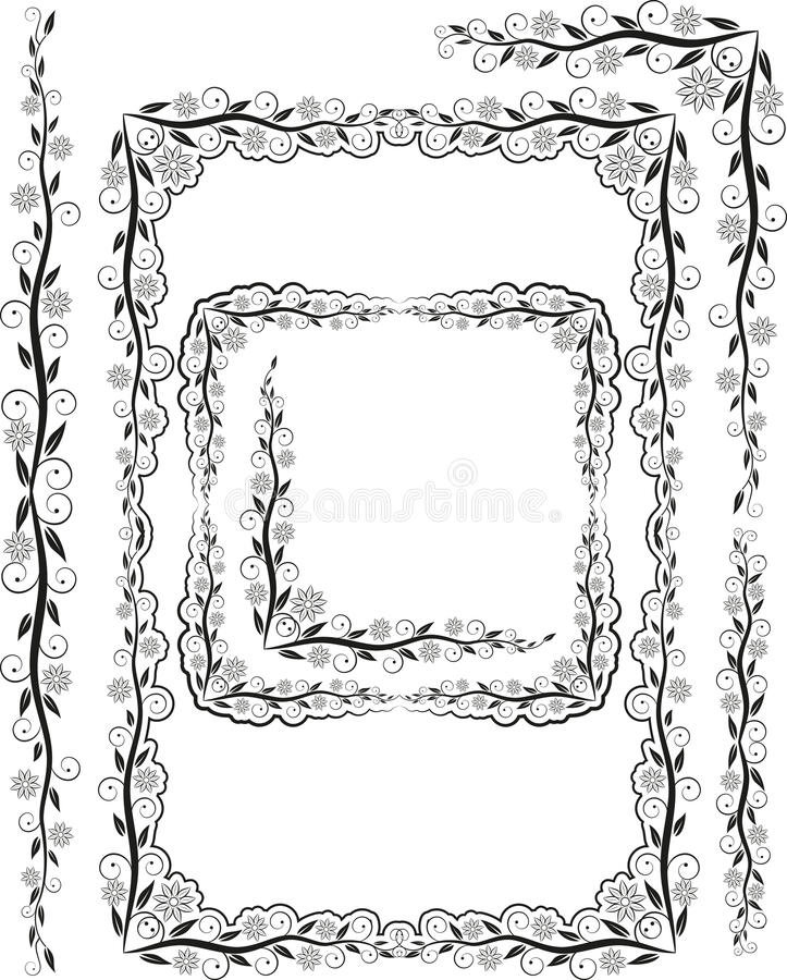Download Frames silhouette stock vector. Image of patterns, curves - 23102635