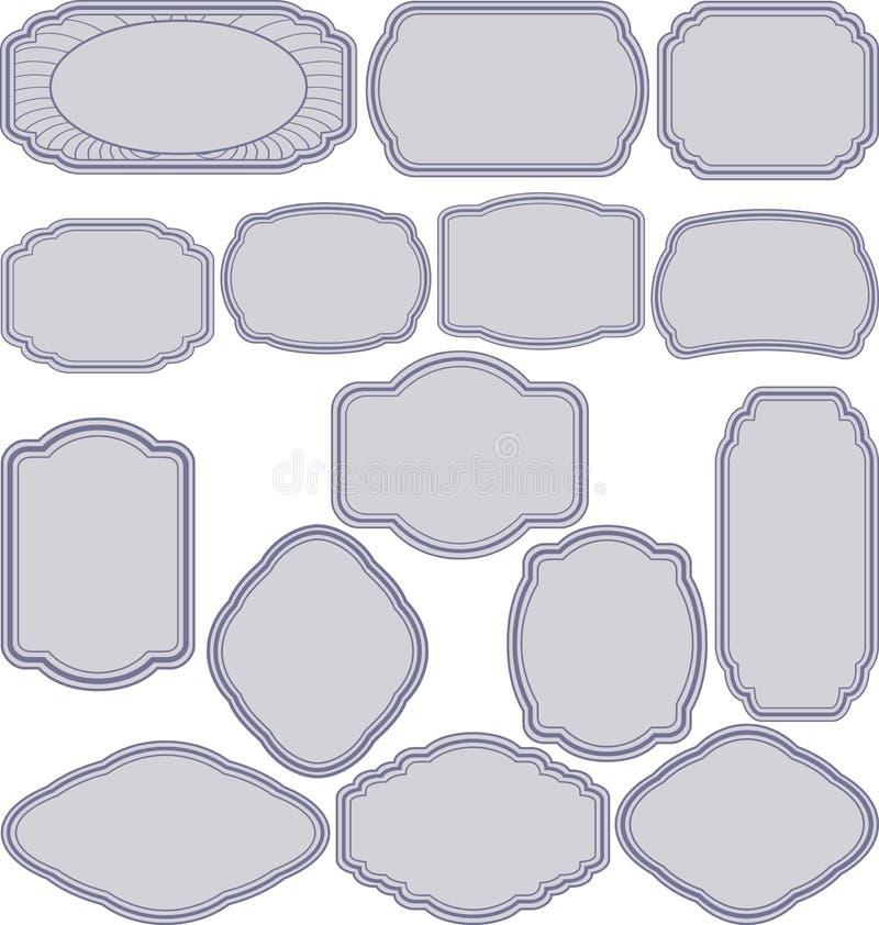 Frames simples ilustração royalty free