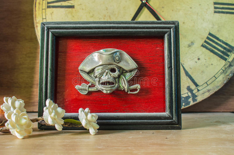 Frames skull on the background royalty free stock image