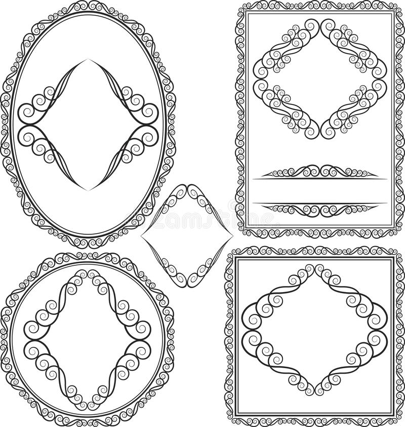 Frames - Square, Oval, Rectangular, Circular Stock Photo
