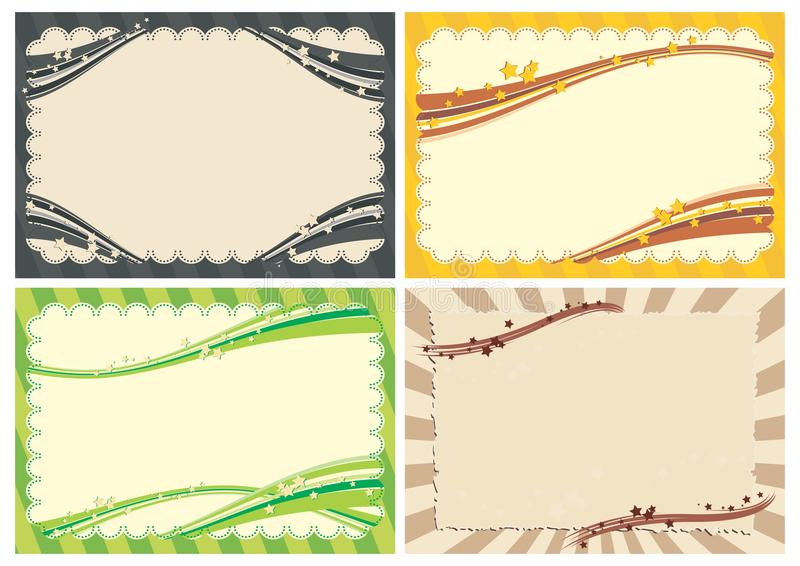 Frames With Stars Royalty Free Stock Image