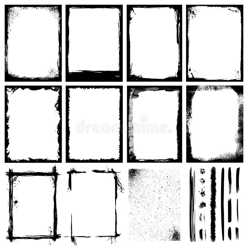 Frames and Textures stock illustration