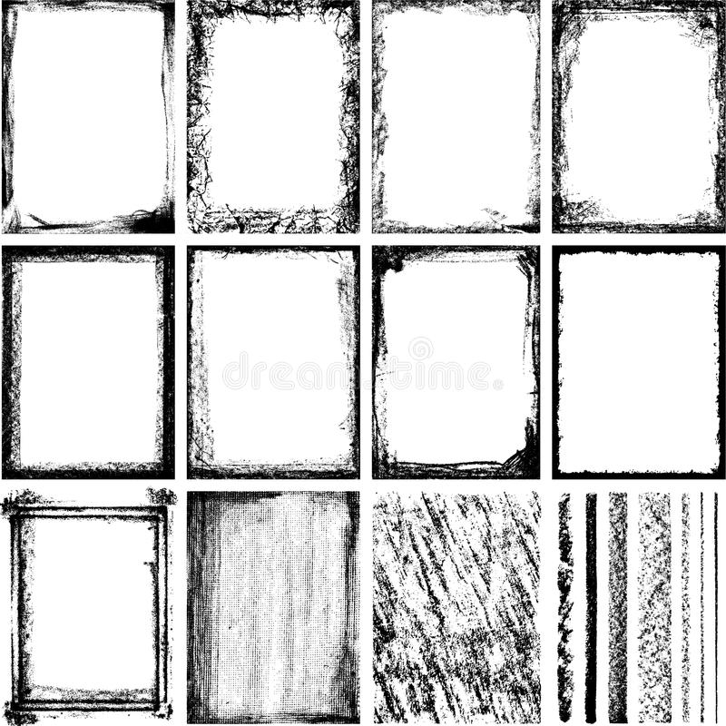 Download Frames and Textures 2 stock vector. Illustration of papyrus - 10607953