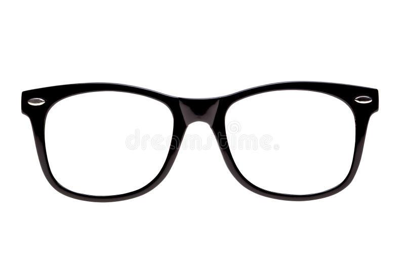 Frames van het nerdschouwspel van de foto de Zwarte stock afbeeldingen