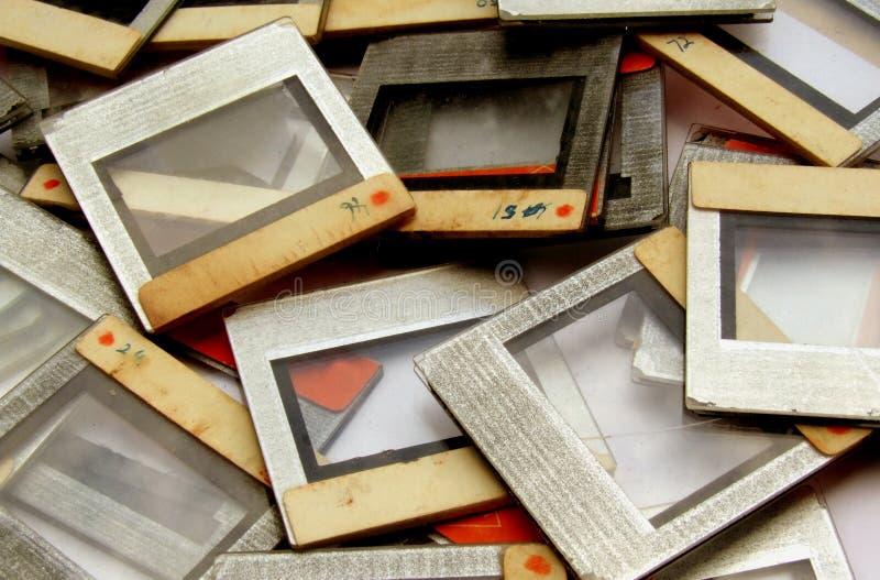 Frames velhos da corrediça imagens de stock royalty free