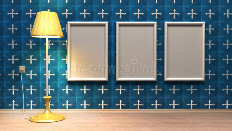 Frames on the wall royalty free illustration