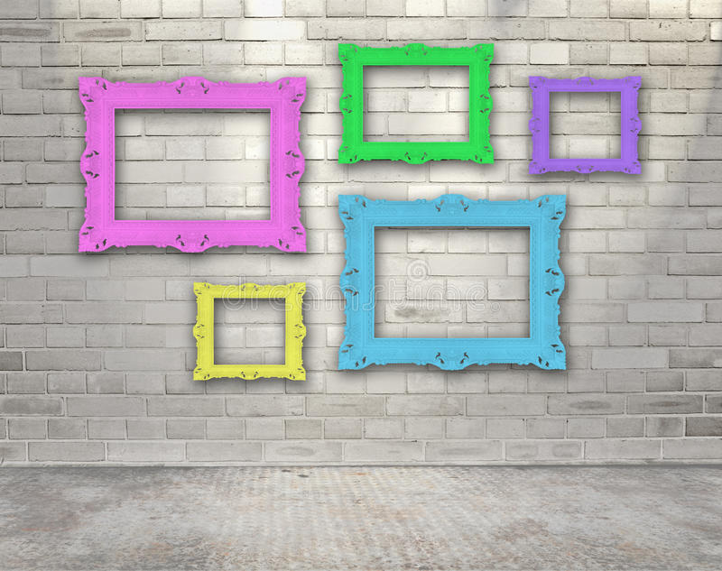 Download Frames on the wall stock photo. Image of indoor, decoration - 21833144