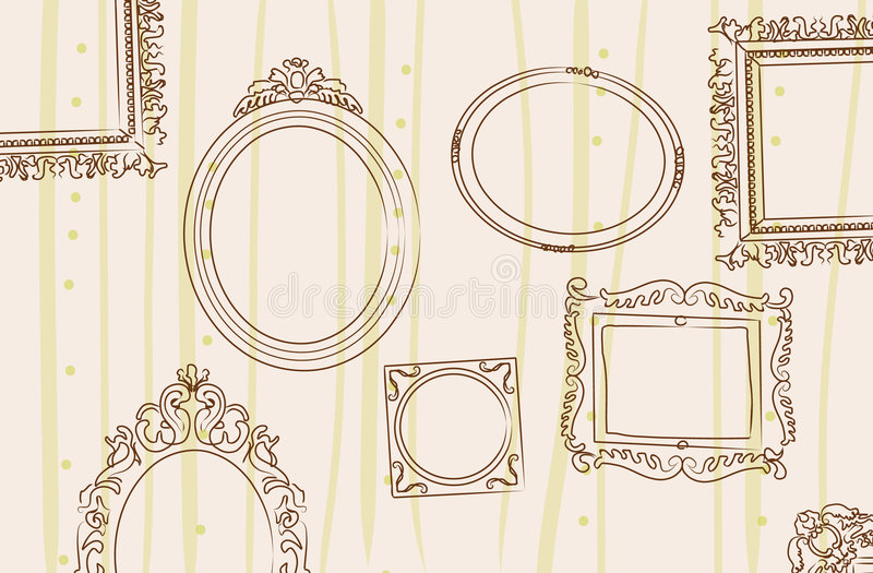 Download Frames on the wall stock illustration. Image of decor - 5627773