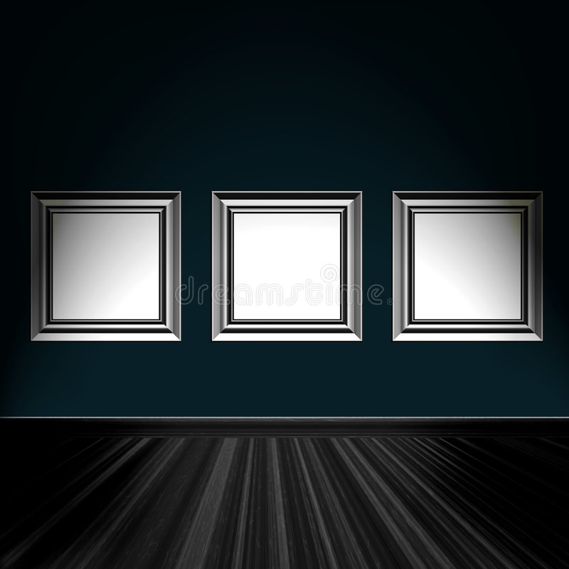 Download Frames On Wall stock illustration. Image of decorative - 8026713