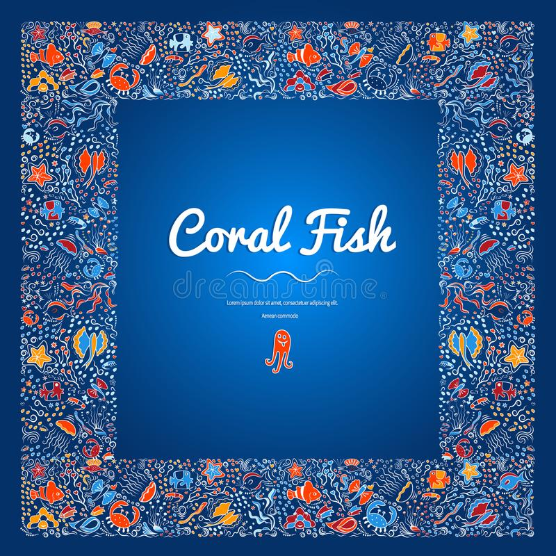 Free Frames With Coral Fish Color-11 Royalty Free Stock Photos - 114563308