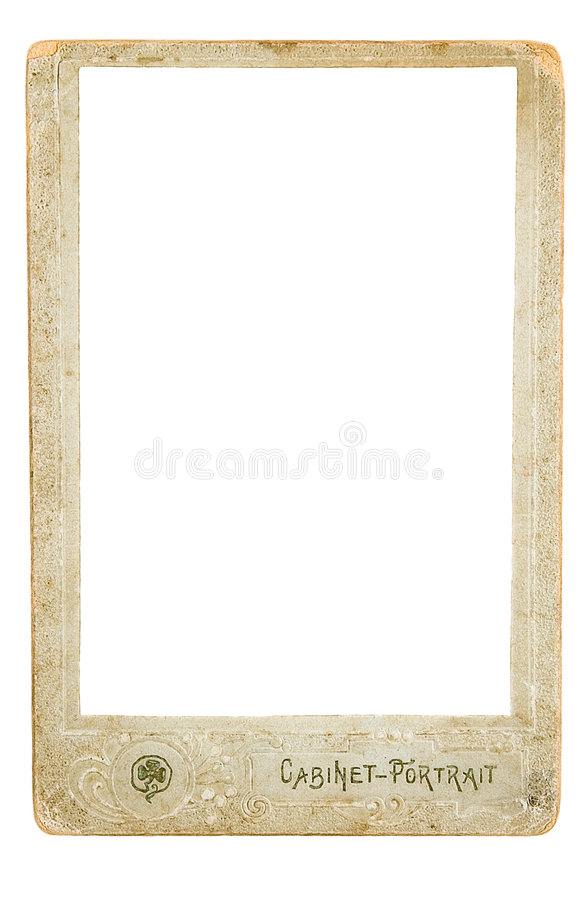 Framework. For a photo traditional for the beginning the last century royalty free stock image