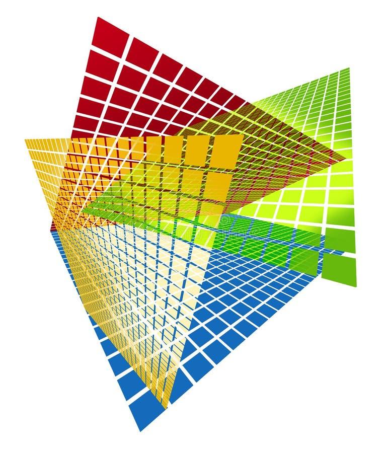 Framework. Yellow red green and blue Framework panels royalty free illustration