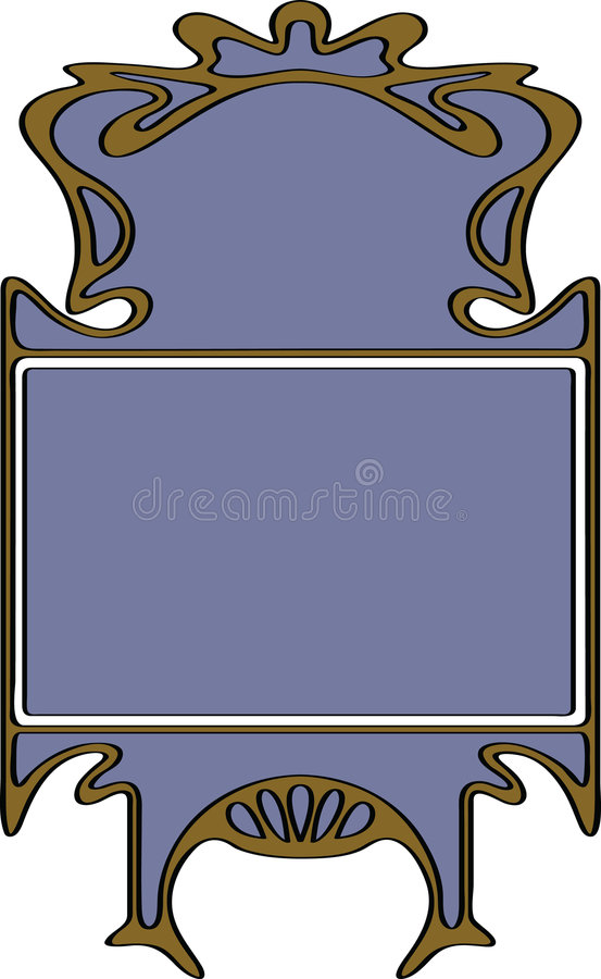 Framework. Abstract framework from the bound plants in style art-nouveau stock illustration