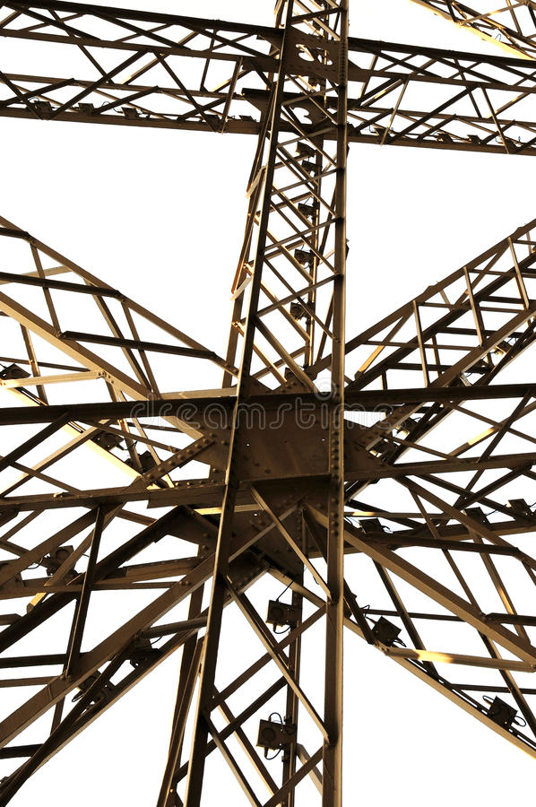Framework architecture of Eiffel tower royalty free stock photography