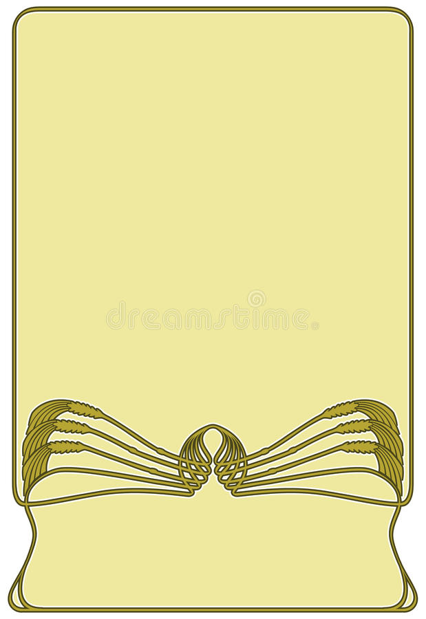 Framework art-nouveau royalty free illustration