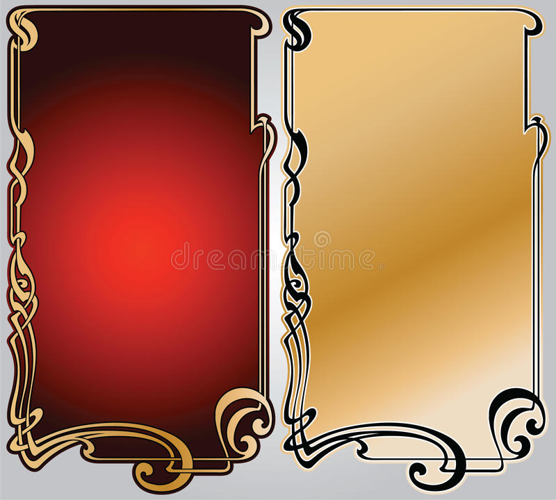 Framework art-nouveau. Abstract framework from the bound lines in style art-nouveau stock illustration