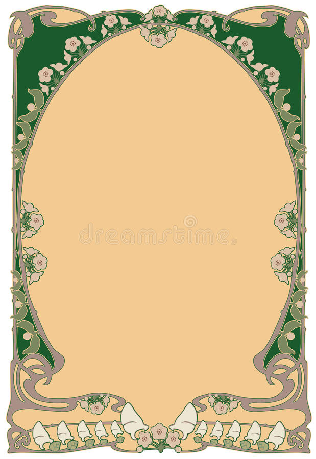 Framework art-nouveau. Abstract framework from the bound plants in style art-nouveau royalty free illustration