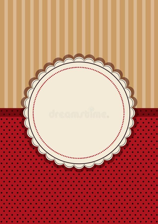 Framework for greeting or invitation vector illustration