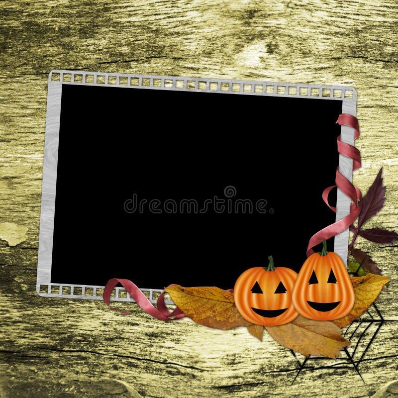 Framework For Halloween Congratulations vector illustration