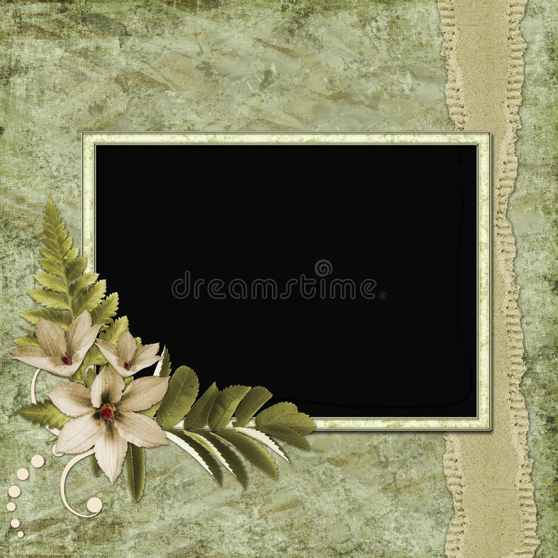 Framework For Invitation Or Congratulation. Stock Images