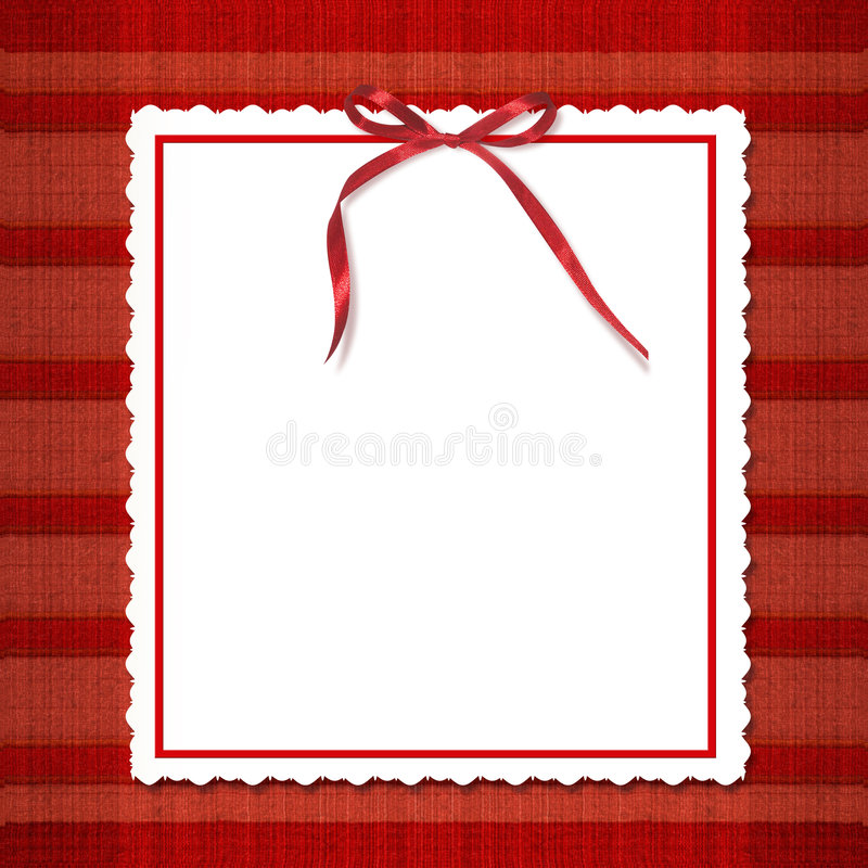 Download Framework For Invitations. A Red Bow. Stock Illustration - Image: 7184464