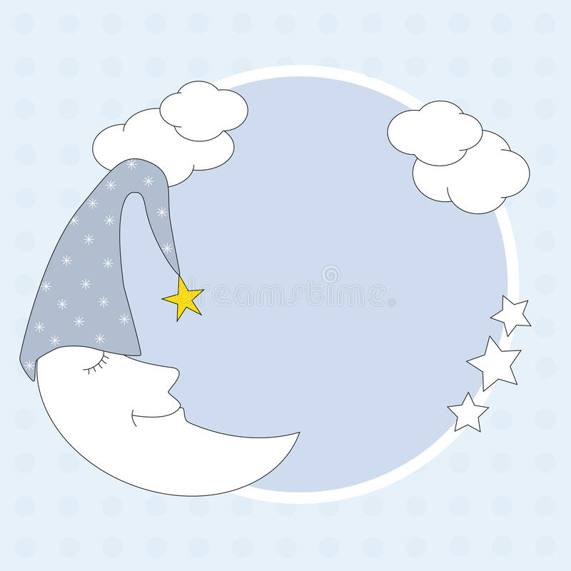 Download Framework with a moon stock vector. Image of strip, decorative - 20199909
