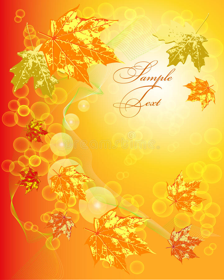 Framework with a pattern from autumn leaves stock illustration
