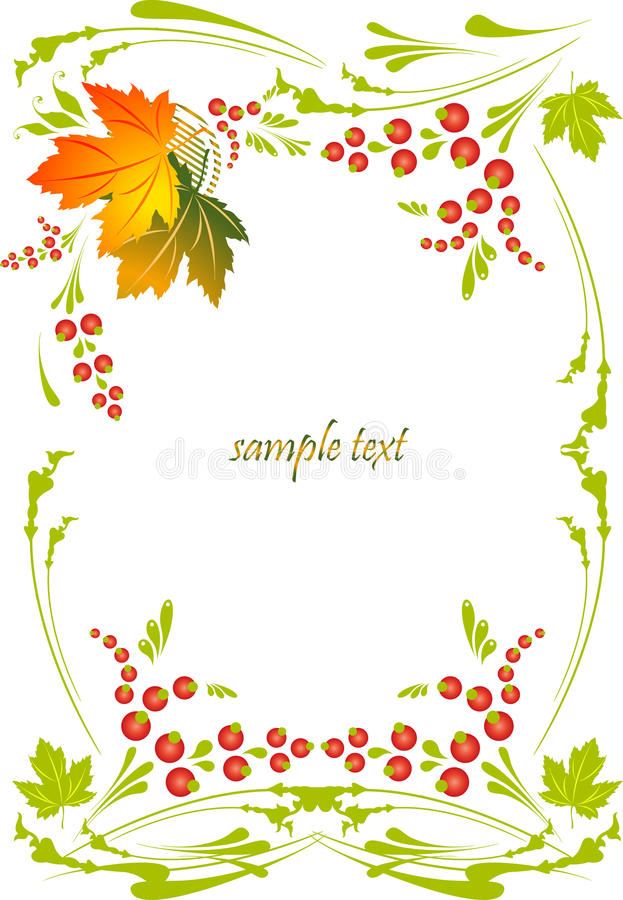 Framework with a pattern from autumn leaves and be royalty free illustration