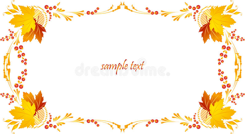 Framework with a pattern from autumn leaves and be stock illustration