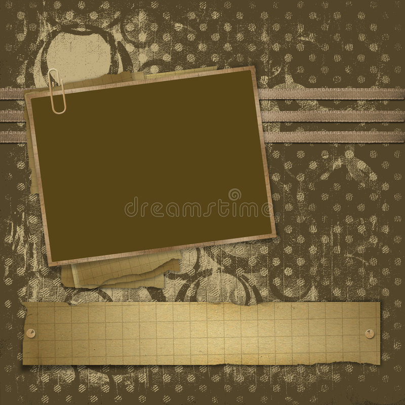 Framework for photo on the abstract background royalty free illustration