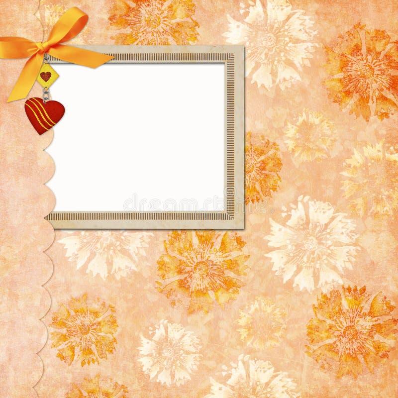 Framework for photo or congratulation royalty free illustration