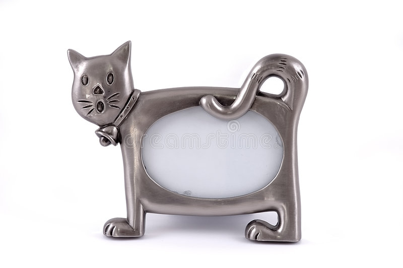Framework For A Photo In The Form Of A Cat. Stock Photo
