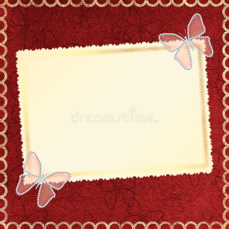 Framework for a photo or invitations. stock illustration