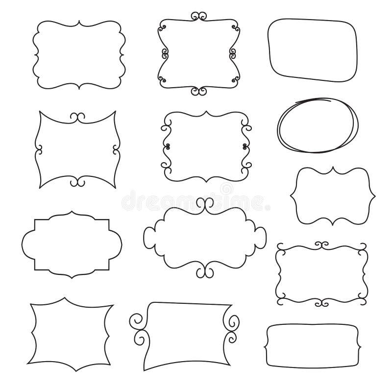 Framework set. Vector illustration, on white background vector illustration