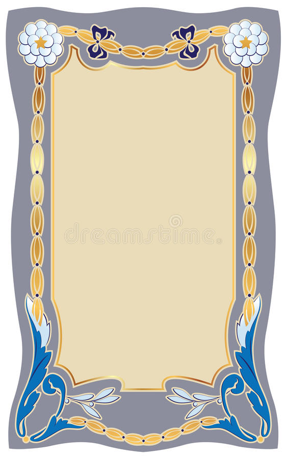 Framework in style art-nouv. Abstract framework from the bound plants in style art-nouveau royalty free illustration