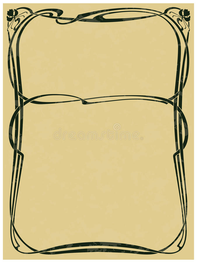 Framework in style art-nouveau. Abstract framework from the bound lines in style art-nouveau (stains can be removed royalty free illustration