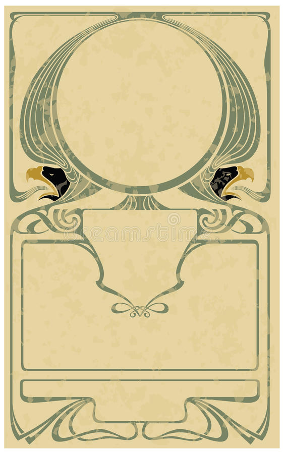 Framework in style art-nouveau. Abstract framework from the bound lines in style art-nouveau (stains can be removed stock illustration