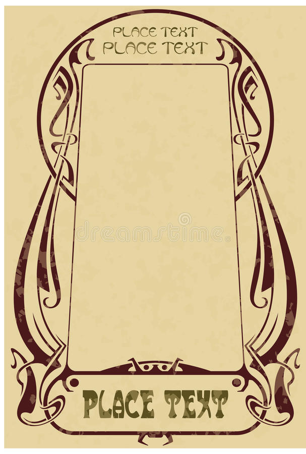Framework in style art-nouveau. Abstract framework from the bound lines in style art-nouveau (stains can be removed vector illustration