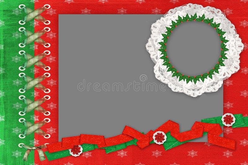 Download Framework For A Two Photo For Christmas Stock Illustration - Illustration: 10850617