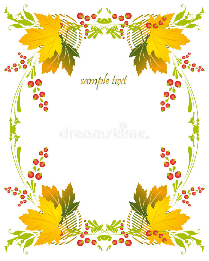 Free Framework With A Pattern From Autumn Leaves And Be Royalty Free Stock Photo - 21209935