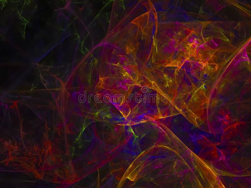Framför abstrakt färgrik framtida yttersida för fractalen advertizing, fotografering för bildbyråer