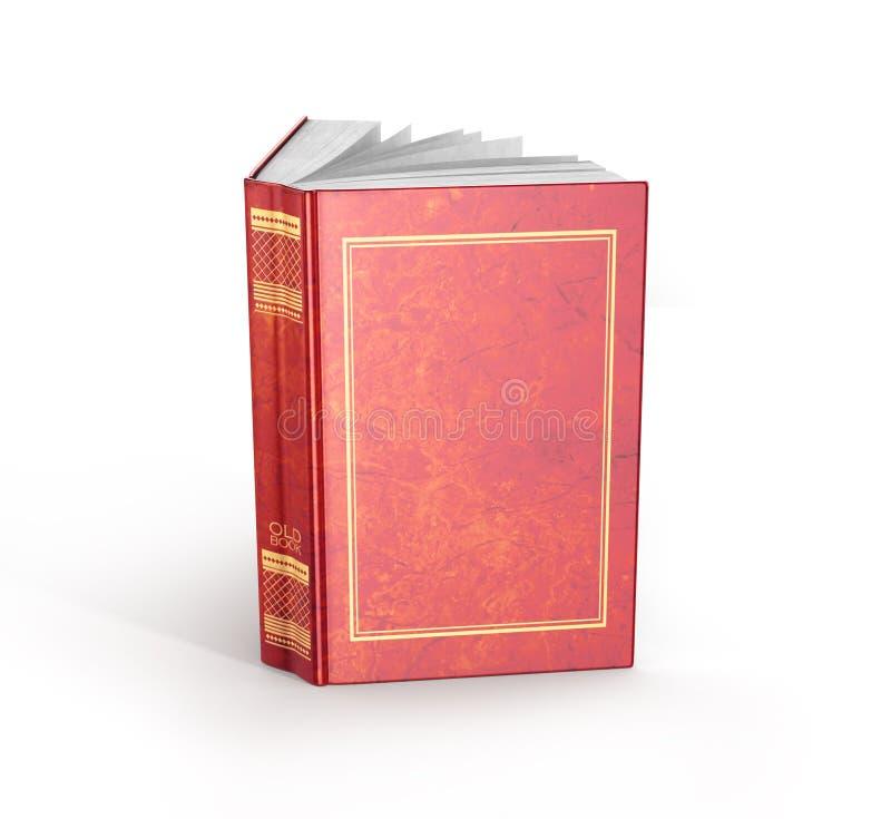 Framför av en öppen bok royaltyfri illustrationer