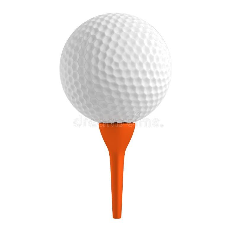 Framför av golfboll vektor illustrationer