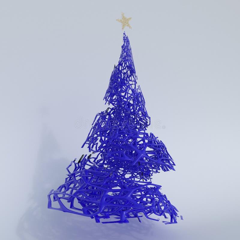 Framför av julgranen 3D stock illustrationer