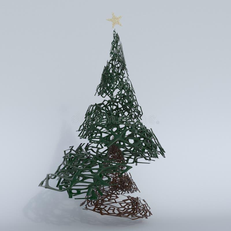 Framför av julgranen 3D vektor illustrationer