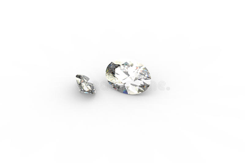framför den ovala parstrålen för diamanter 3d spåring vektor illustrationer