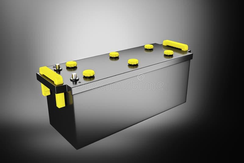 framförande 3d batteri 24v för lastbil Ackumulator för kommersiellt medel vektor illustrationer