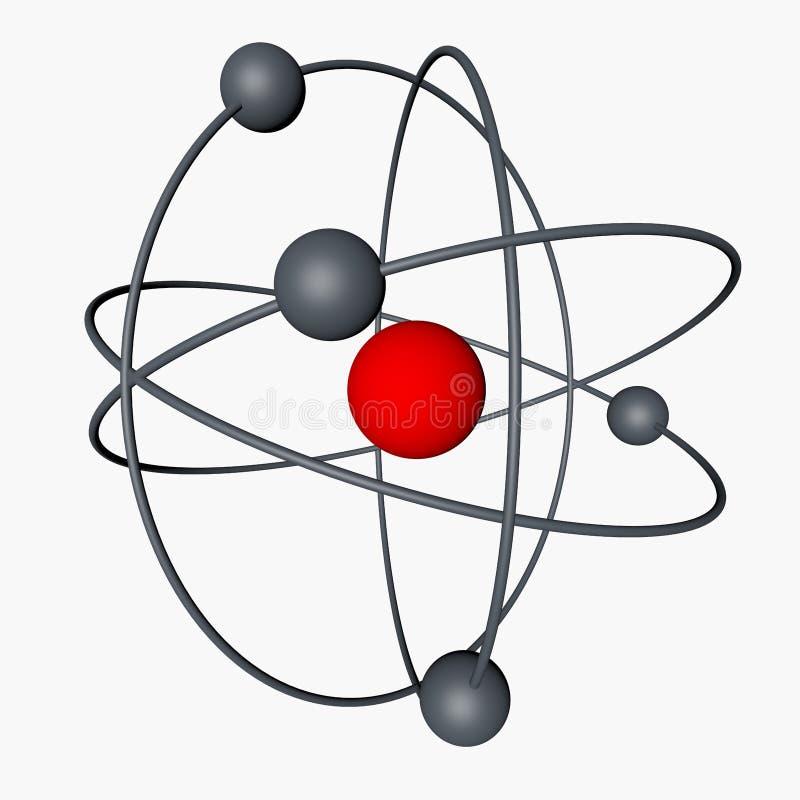 framförande 3d Elementarpartiklar atomer royaltyfri illustrationer