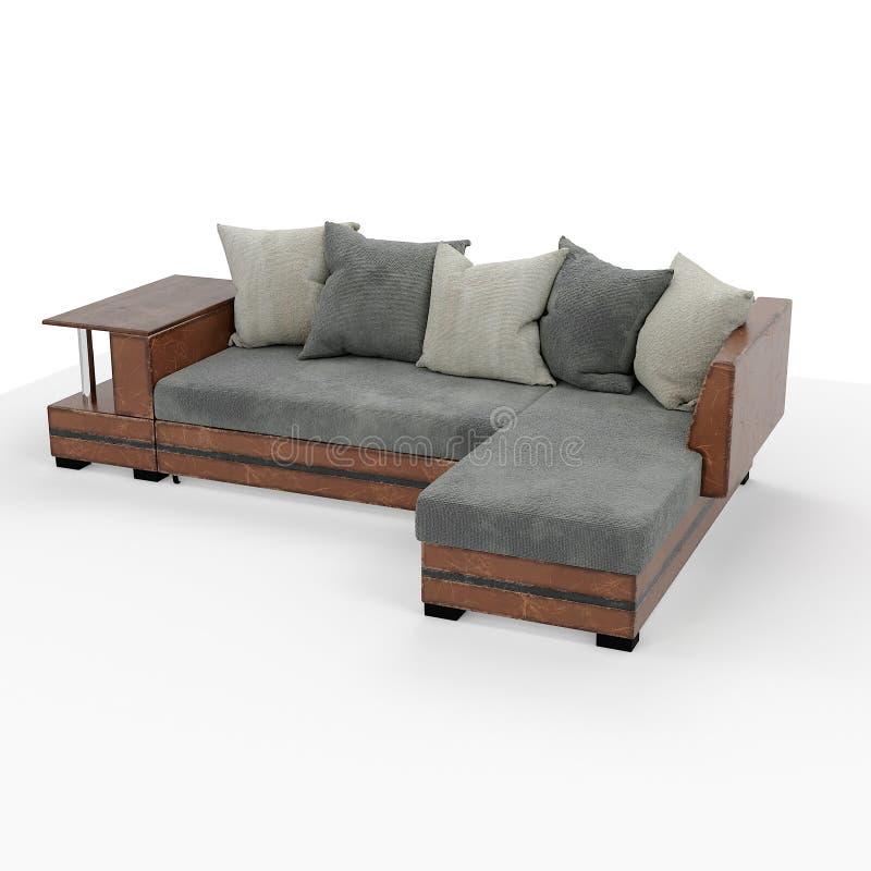 framförande 3d Modern soffa av enkel form royaltyfria foton